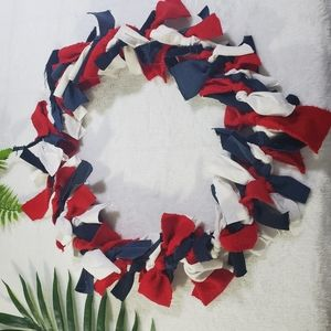 Patriotic Wreath and Garland set Homemade